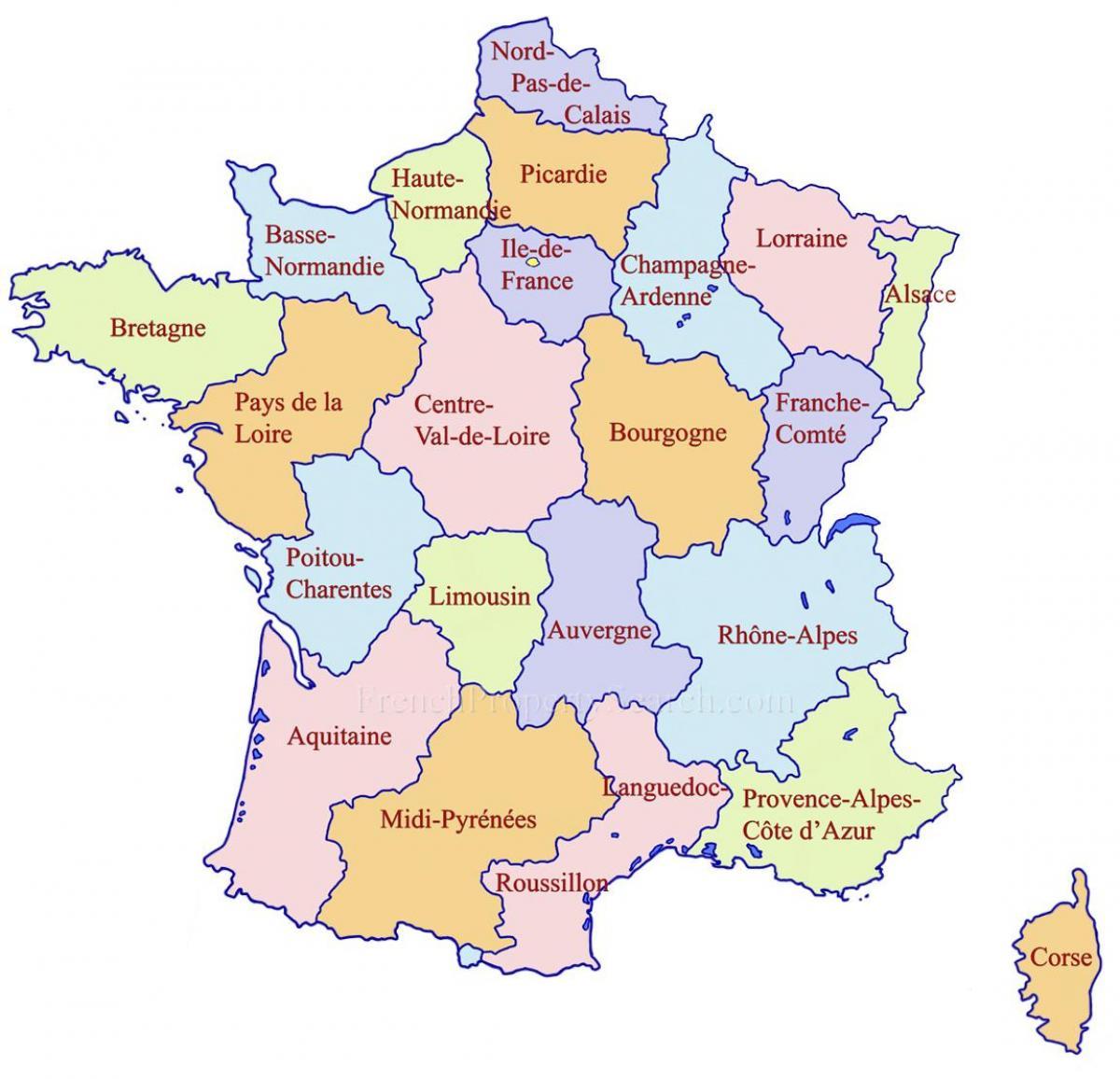 mapa de frança google Mapa do Google França regiões   mapa Detalhado da França regiões  mapa de frança google